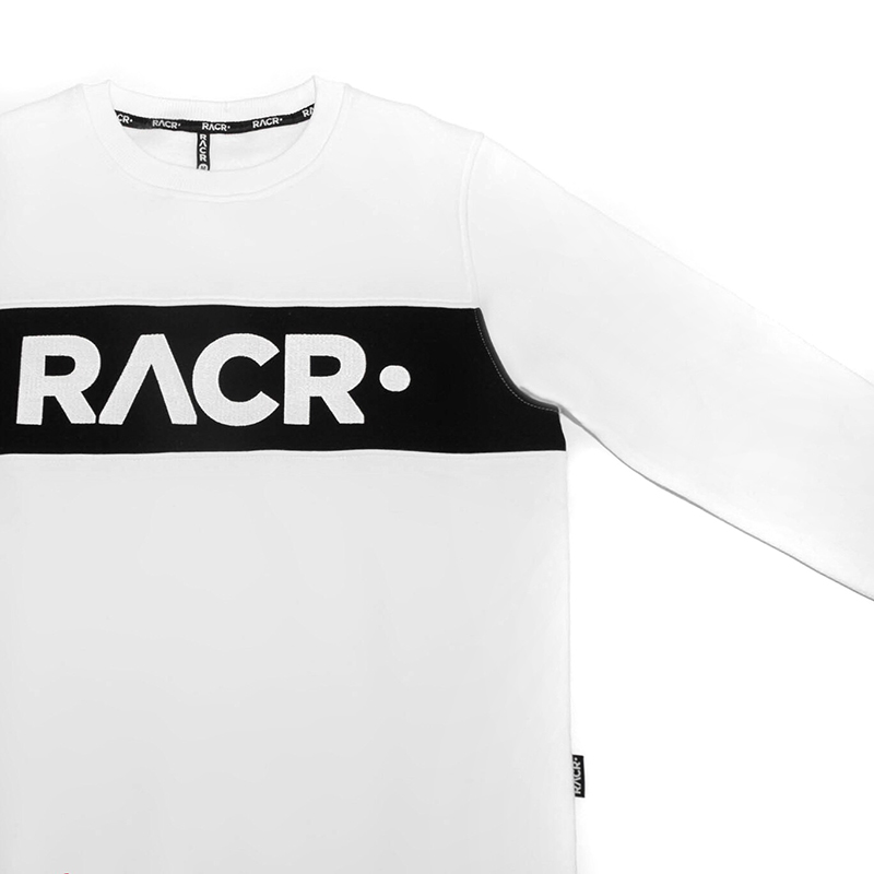 RACR Sweater White with logo